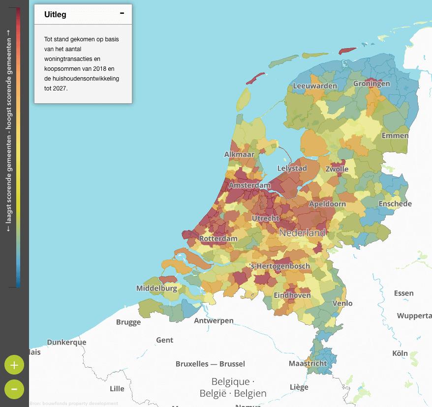 Hitte Kaart Huishoudensontwikkeling Nederland Huurwoningdesk